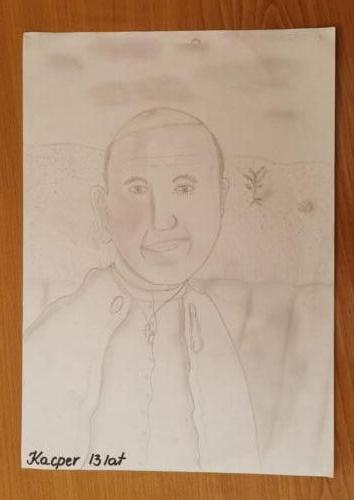 Św. Jan Paweł II jak malowany
